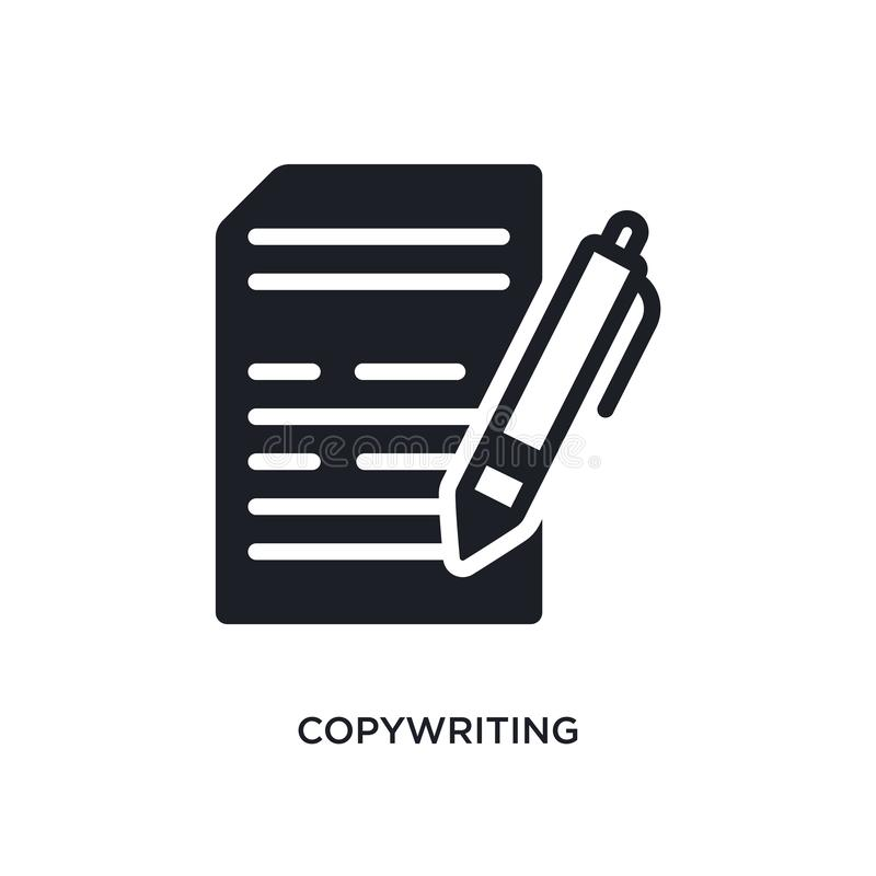 copywriting isolerad symbol enkel beståndsdelillustration från symboler för begrepp general-1 copywriting redigerbar design för l vektor illustrationer