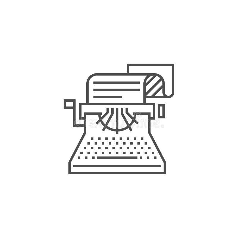 Copywriting Line Icon vector illustration