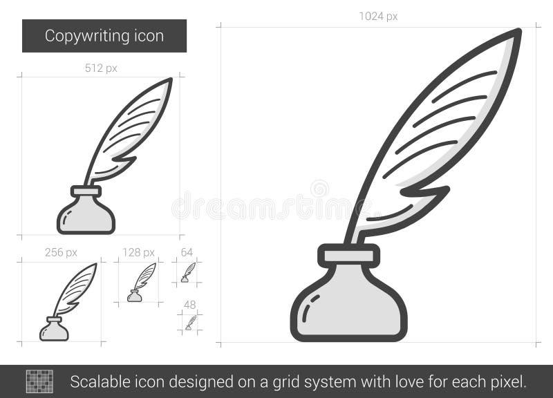 Copywriting line icon. royalty free illustration