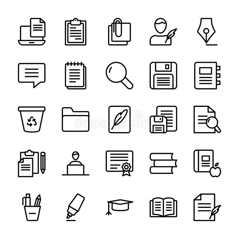 Copywriting Line Icons Set vector illustration