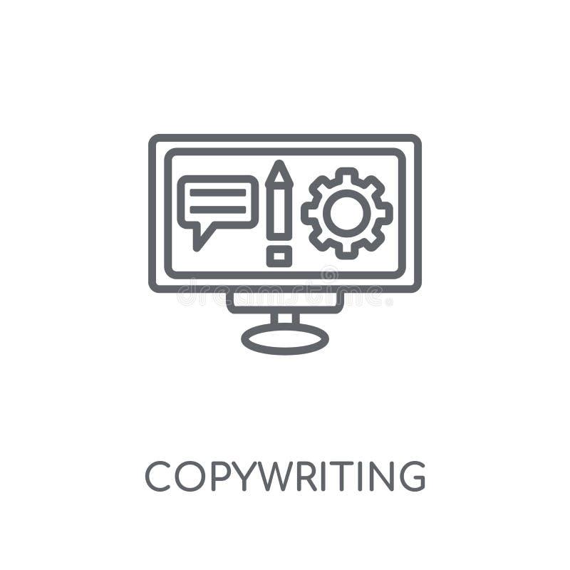 copywriting linear icon. Modern outline copywriting logo concept vector illustration