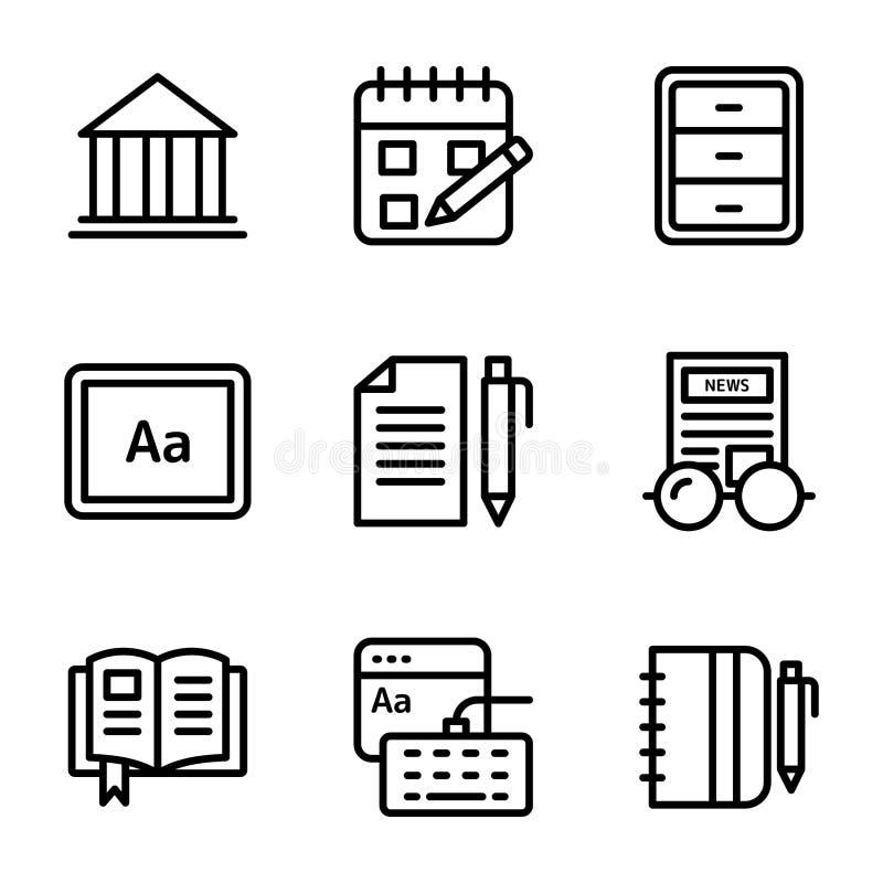 Copywriting-Linie Vektor-Satz lizenzfreie abbildung