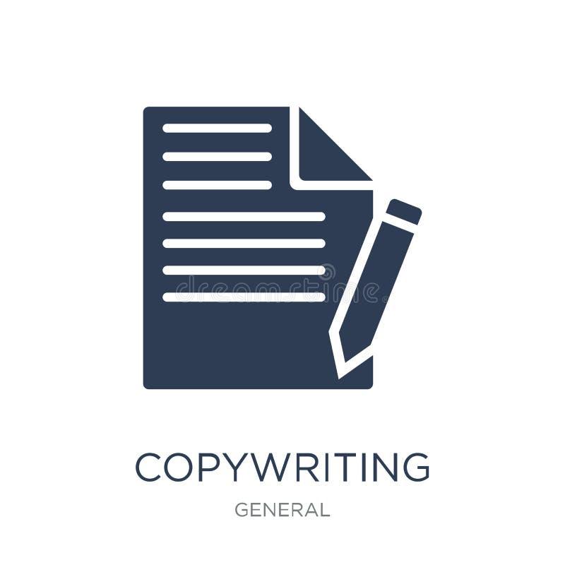 Copywriting symbol Copywriting symbol för moderiktig plan vektor på vitt b stock illustrationer