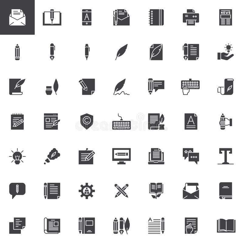 Copywriting wektorowe ikony ustawiać ilustracja wektor