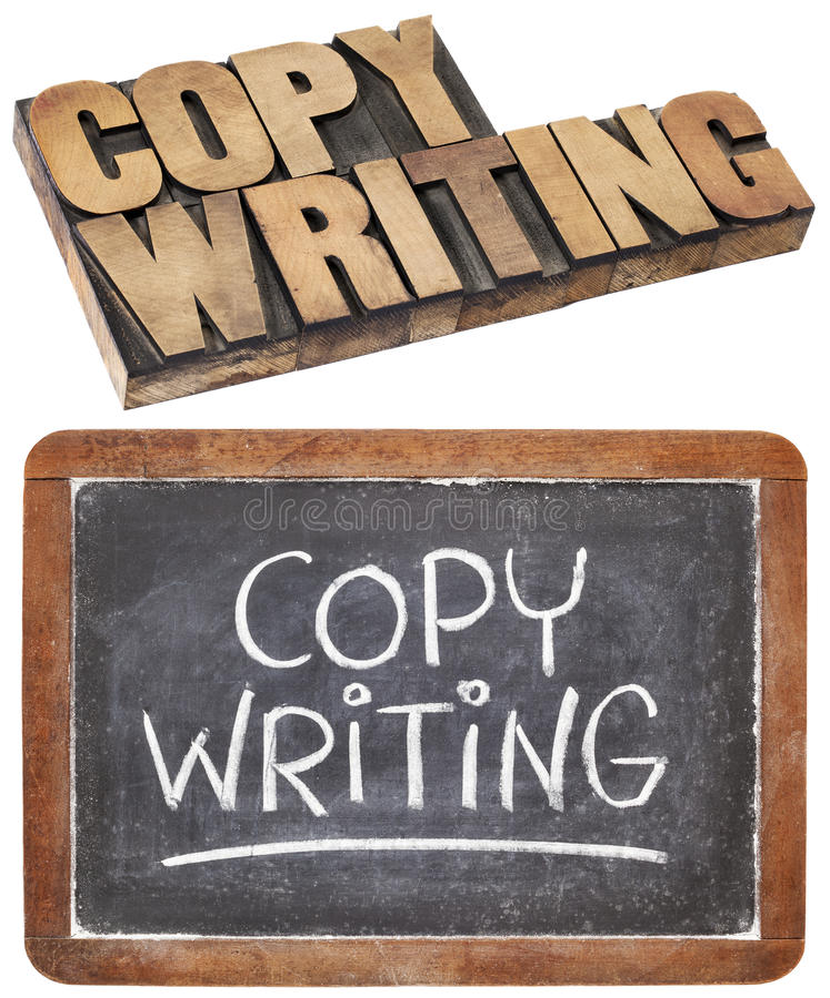 Copywriting Wort stockfotos