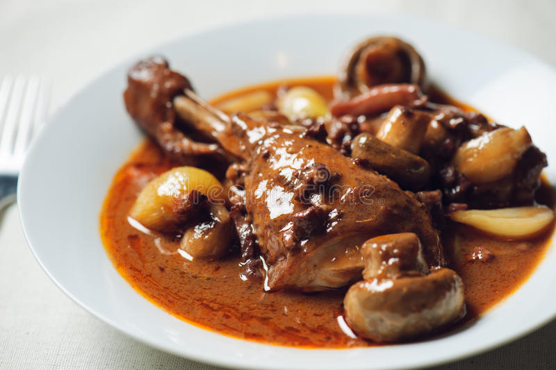 Coq au vin royalty free stock photo
