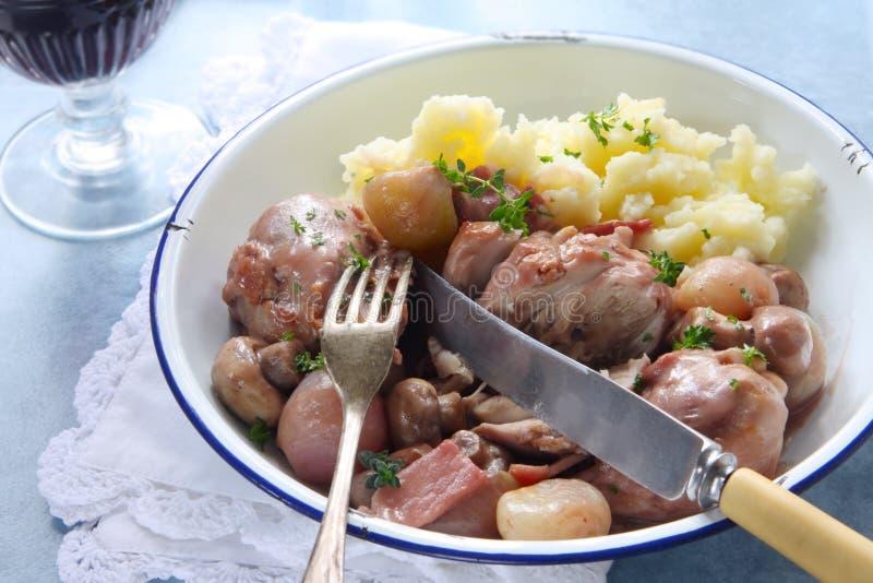 Coq au Vin stock image