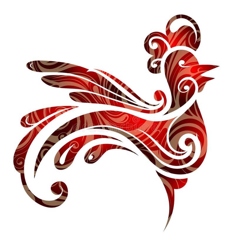 Coq 2017 de symbole d'année illustration libre de droits