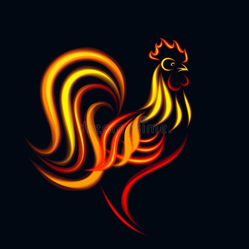 Coq du feu illustration de vecteur