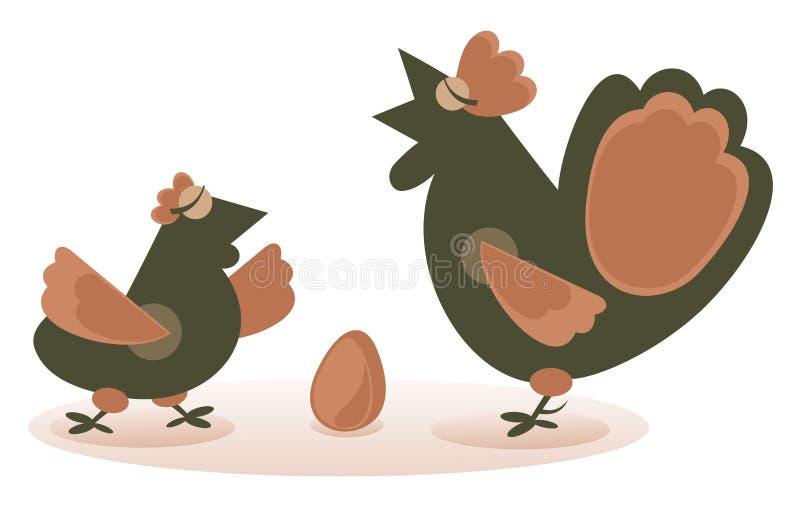 Coq et poule illustration libre de droits