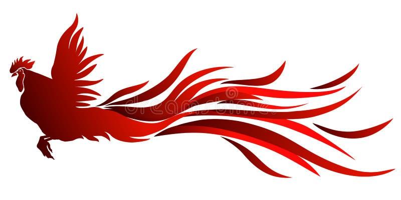 Coq rouge illustration stock
