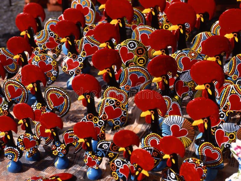 Coqs de Barcelos. Le Portugal image stock