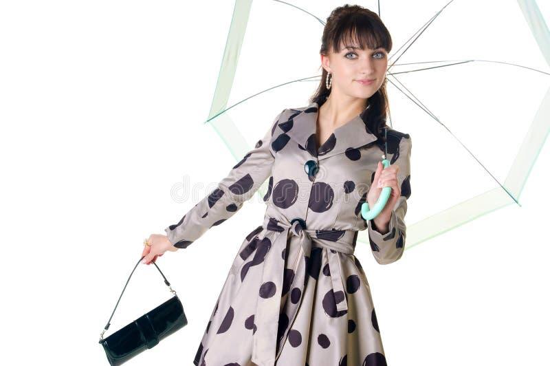 Coquette alegre no vestido retro do estilo. imagem de stock royalty free