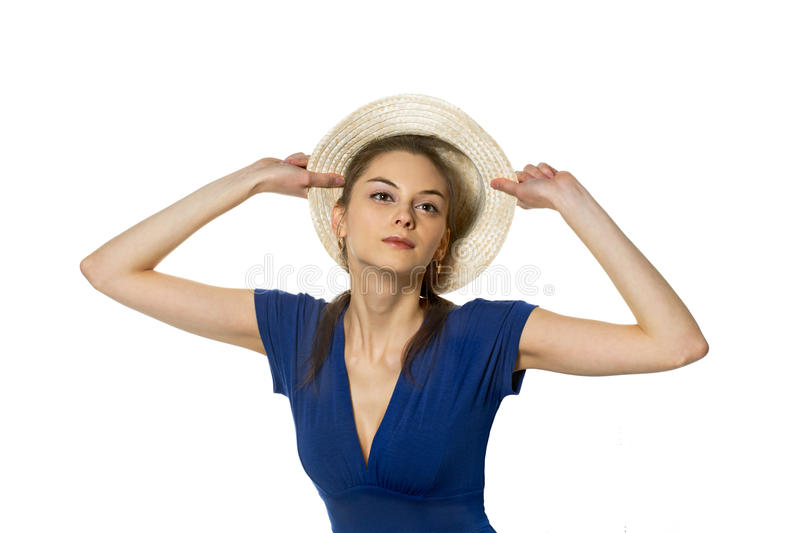 Download Coquette and cap stock image. Image of image, blue, admires - 20068423