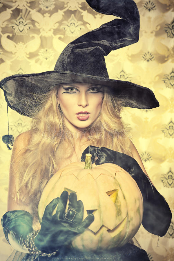 Coquette Witch Royalty Free Stock Image