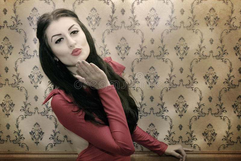 Coquette woman royalty free stock photo