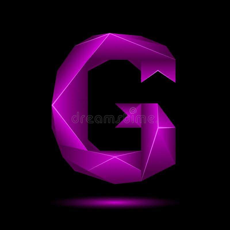 """Coquille """"G """"par illustration de vecteur"""