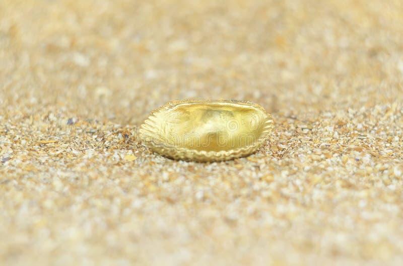 Coquille d'or photos libres de droits