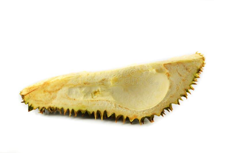 Coquille de fruit de durian photographie stock libre de droits