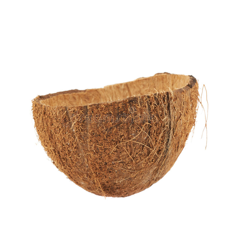 coquille de fruit de noix de coco coup e dans la moiti image stock image du nature demi. Black Bedroom Furniture Sets. Home Design Ideas