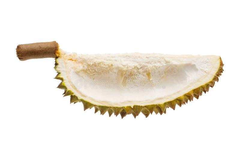 Coquille de fruit de durian d'isolement photos stock