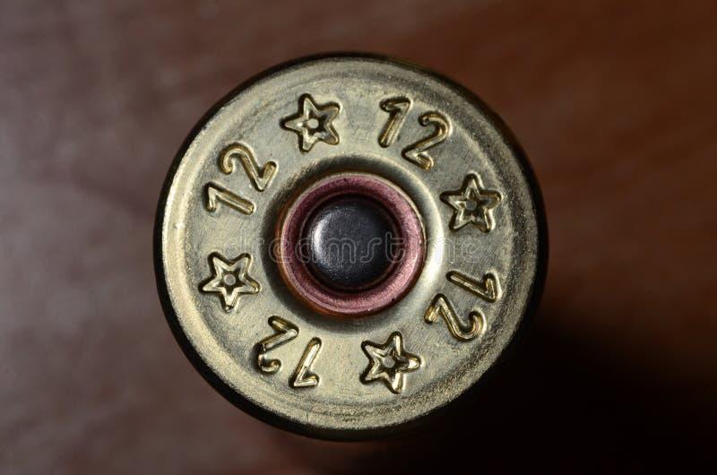 coquille de fusil de chasse 12-gauge photographie stock libre de droits
