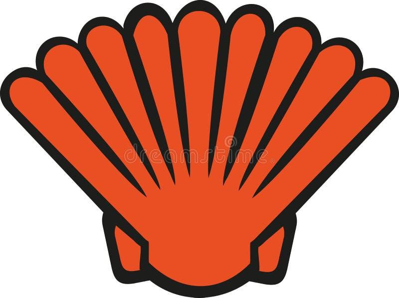 Coquille orange de bande dessinée illustration de vecteur