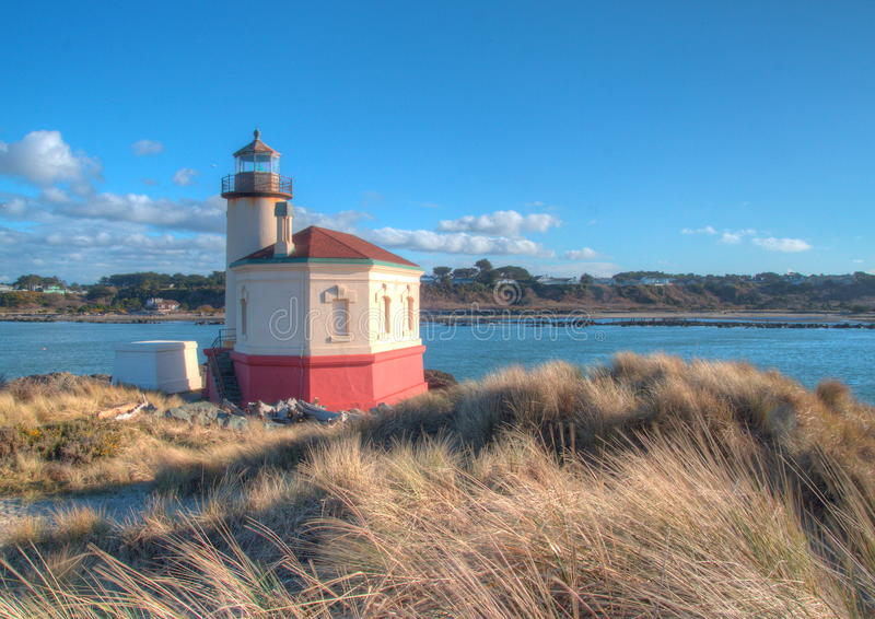 Coquille River Light House. The Coquille River Light House, near Bandon Oregon stock photo
