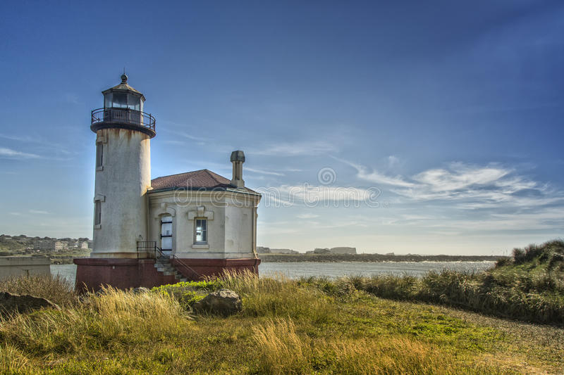 Coquille River Lighthouse in Bandon, Oregon royalty free stock photos