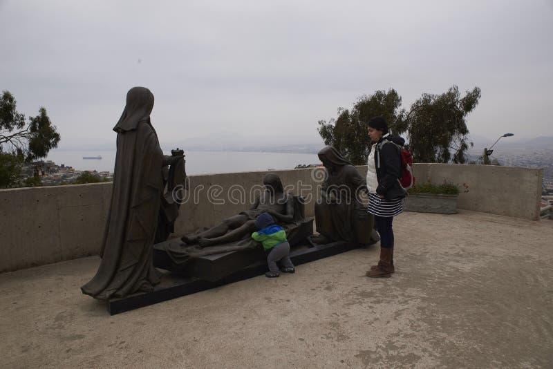 20-03-2019 Coquimbo, Chile La tercera cruz del milenio es un monumento conmemorativo religioso imagenes de archivo