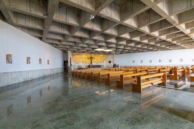 Chile Coquimbo internal view of third millennium church royalty free stock photo