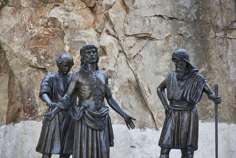 20-03-2019 Coquimbo, Cile Il terzo incrocio di millennio è un monumento commemorativo religioso immagini stock libere da diritti