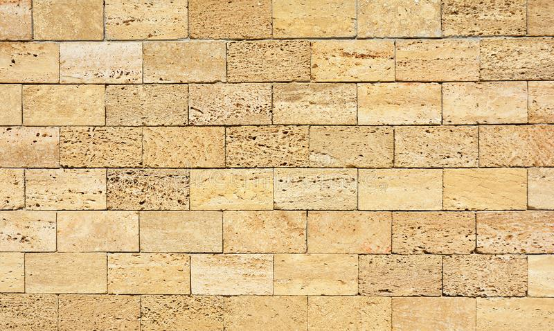 Coquina, shelly house limestone wall textured background. Coquina, shelly house limestone wall background royalty free stock photography