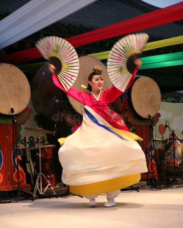 Coréen de danseur images stock