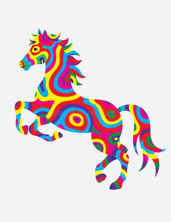 Cor abstrata do cavalo ilustração do vetor