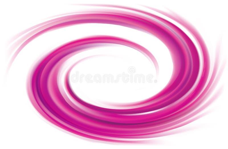 Cor abstrata dos carmesins do fundo da espiral do vetor ilustração stock