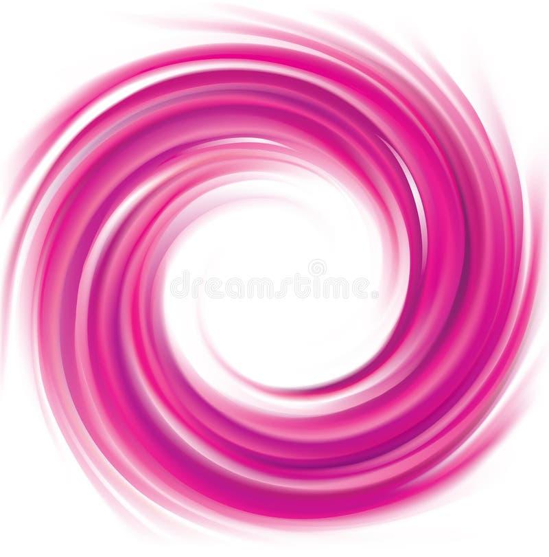 Cor abstrata dos carmesins do fundo da espiral do vetor ilustração do vetor