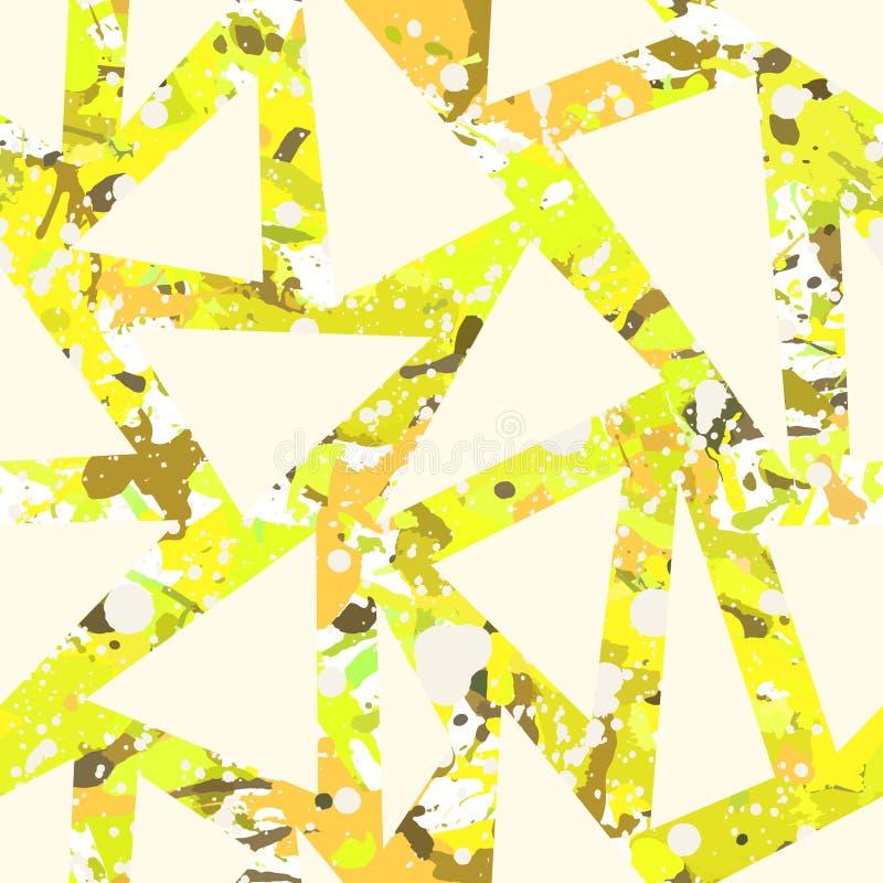 A cor abstrata funky pinta o teste padrão sem emenda ilustração royalty free