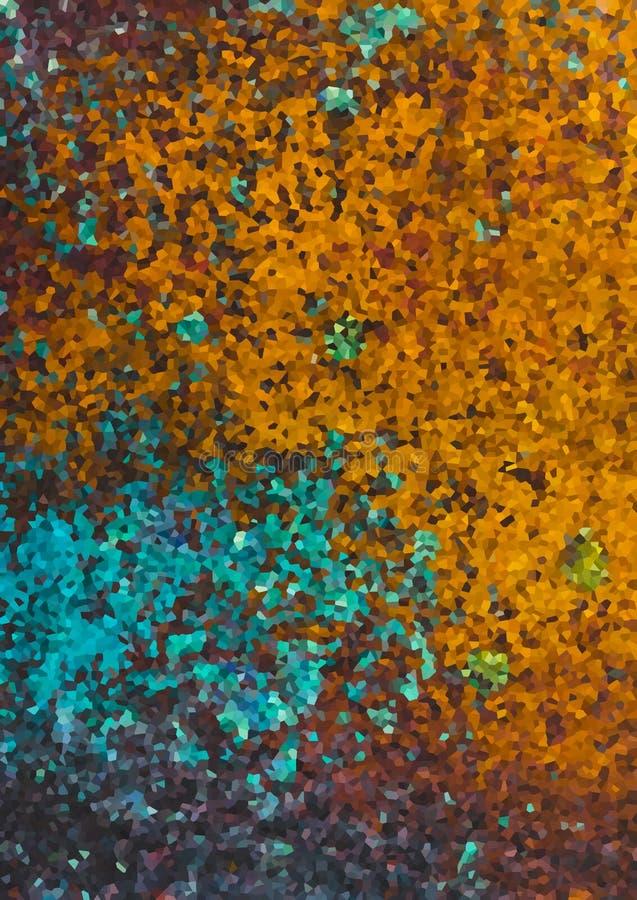 Cor abstrata Teal Gold Brown azul do fundo da forma foto de stock royalty free