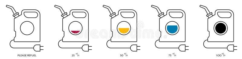 Cor ajustada branca da tomada elétrica do cartucho ilustração do vetor