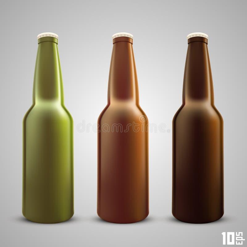 Cor ajustada da garrafa de cerveja ilustração stock