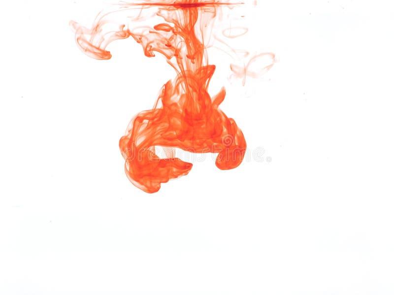 Cor alaranjada na água imagens de stock