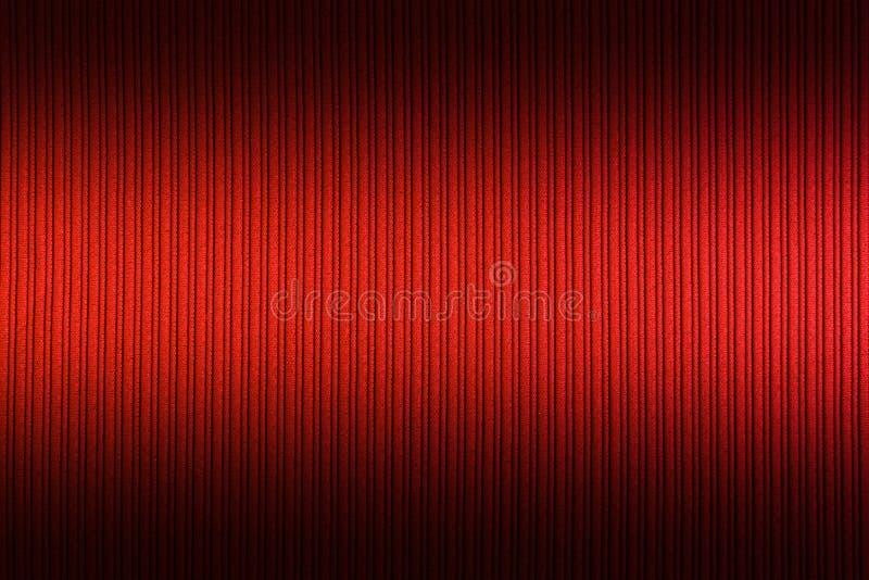 Cor alaranjada vermelha do fundo decorativo, inclinação superior e mais baixo da textura listrada wallpaper Arte Projeto foto de stock