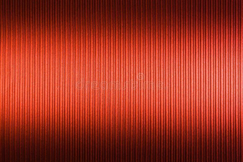 Cor alaranjada vermelha do fundo decorativo, inclina??o superior e mais baixo da textura listrada wallpaper Arte Projeto fotos de stock