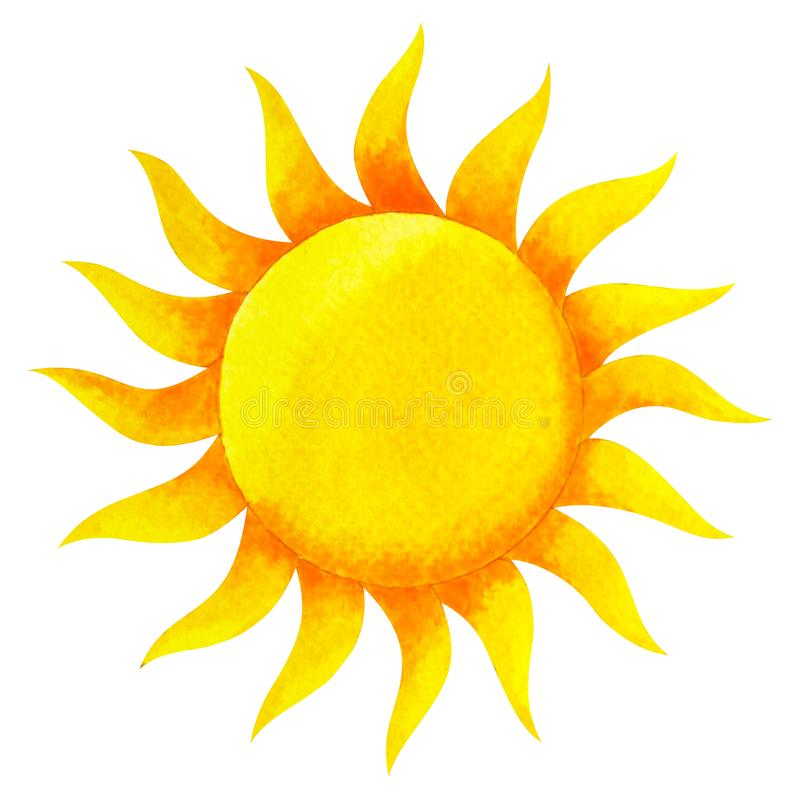 Cor amarela do conceito do sol do plexo solar do símbolo do chakra ilustração royalty free