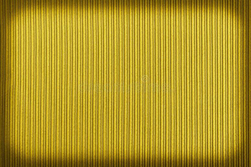 Cor amarela do fundo decorativo, inclina??o listrado do vignetting da textura wallpaper Arte Projeto foto de stock royalty free