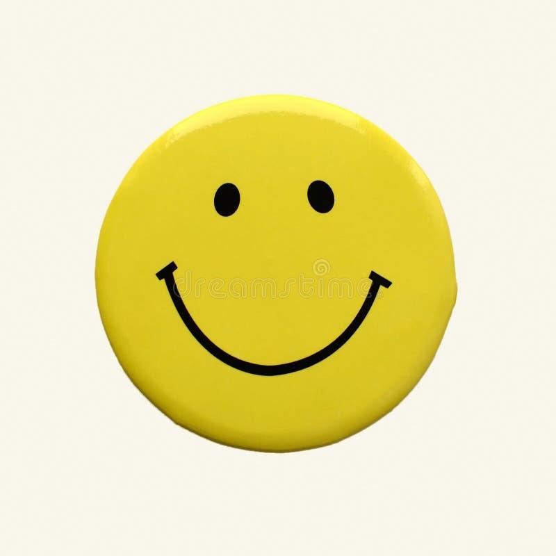 Cor amarela do smiley, cara de sorriso, ícone, imagem tridimensional ilustração do vetor