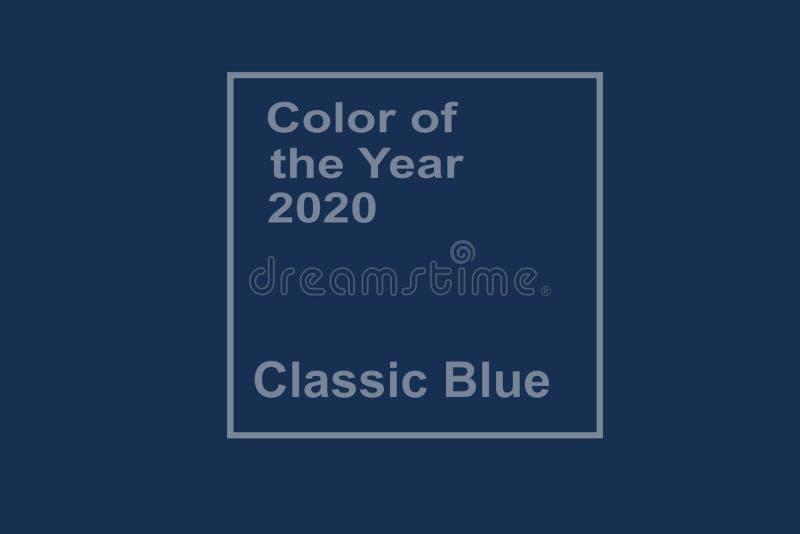 Cor azul clássica ilustração royalty free