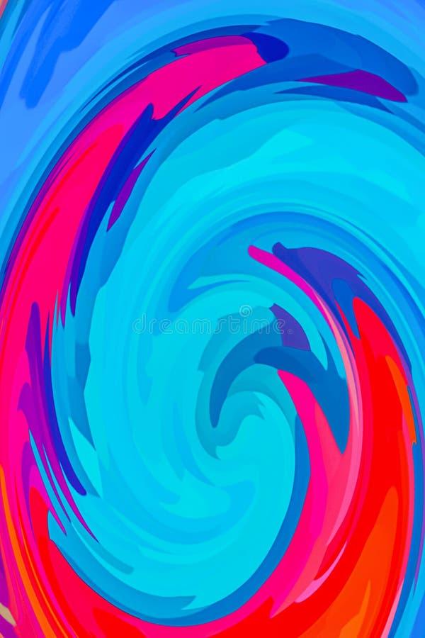 Cor azul clara cor aquosa cor cor de pêssego cor vermelha fundo abstrato cor de laranja ilustração stock
