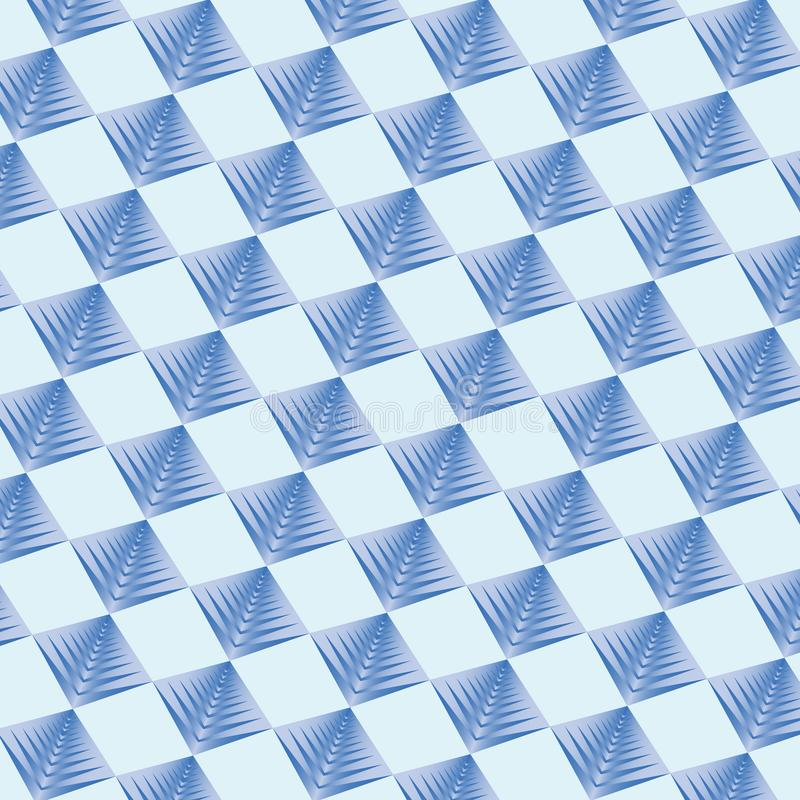 Cor azul do fundo geométrico do teste padrão ilustração royalty free